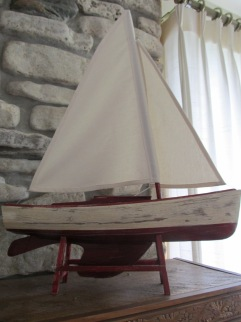 Wooden Sailboat - 18 inches