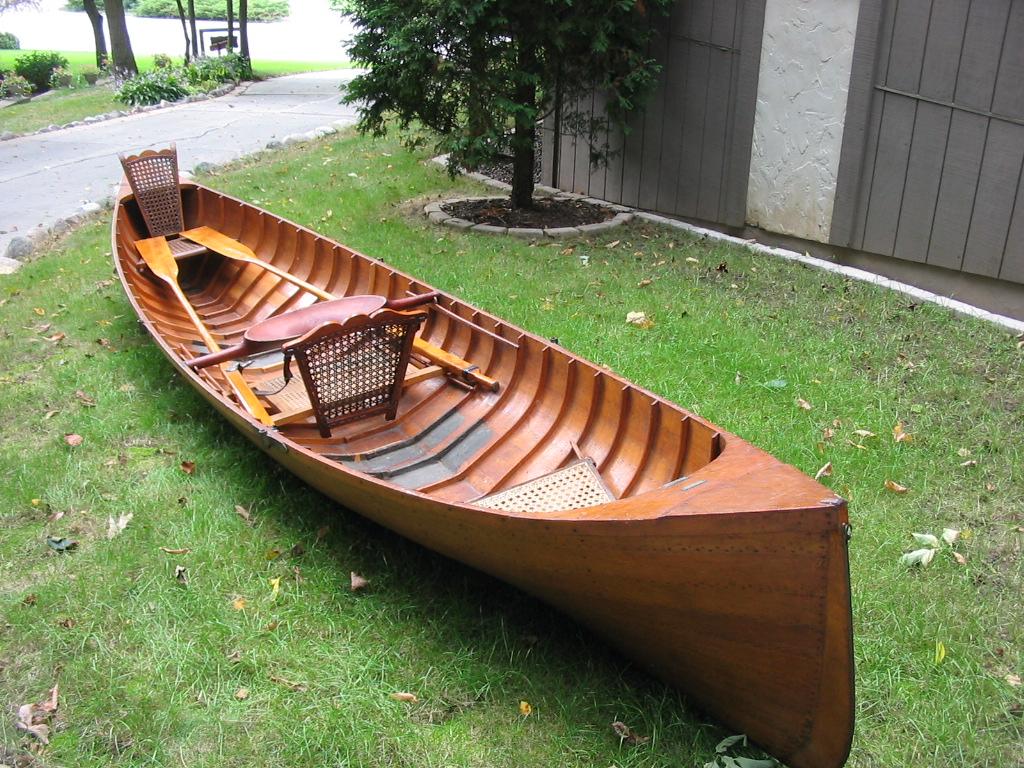 Varnished Cole Guideboat 1