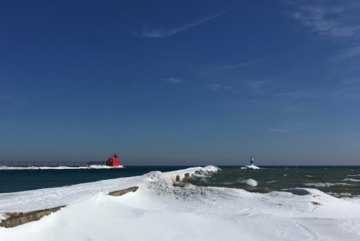 Lake Michigan and the Sturgeon Bay Ship Canal