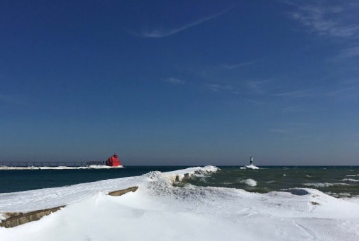 Lake Michigan and the Sturgeon Bay Ship Canal