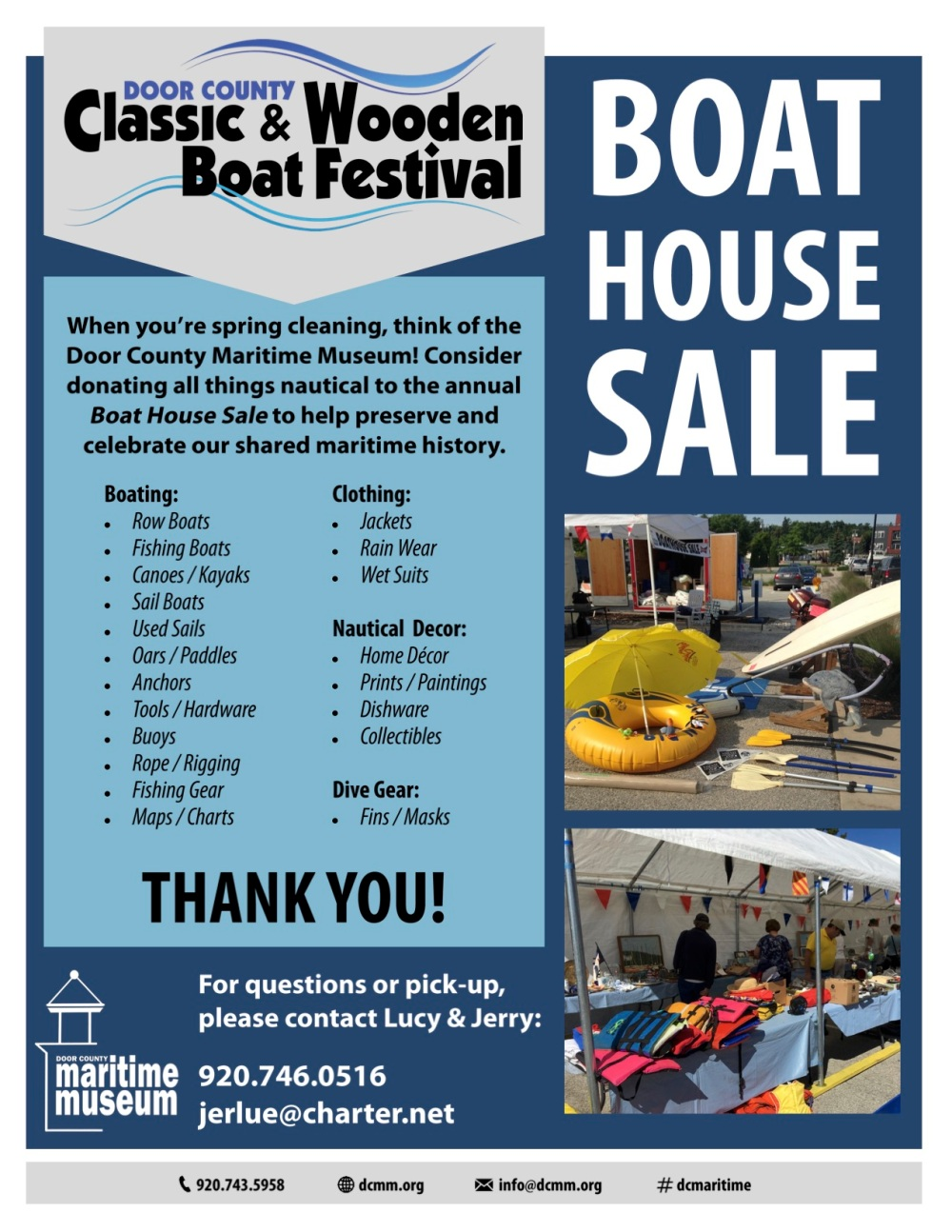 2019.04.23 Boat House Sale Poster